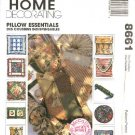 McCall's Sewing Pattern 8661 Eleven Embellished Trimmed Pillows Cushions Bolsters