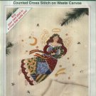 Dimensions Patchwork Angel Christmas Counted Cross Stitch Kit on Waste Canvas