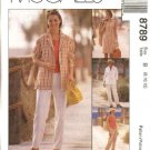 McCall's Sewing Pattern 8789 Misses Size 8-12 Wardrobe Shirt-Jacket Sleeveless Dress Top Pants