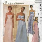 McCall's Sewing Pattern 9287 Misses Size 8-12 Evening Prom Formal Empire Waist Dress Gown