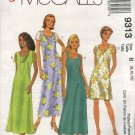 McCall's Sewing Pattern 9313 Misses Size 8-12 Easy Two Layer Short Long A-line Dresses