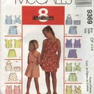 McCall's Sewing Pattern 9369 Girls Size 4-6 Easy Summer Wardrobe Tops Shorts Skorts