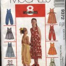 McCall's Sewing Pattern 9372 Girls Size 4-6 Sundress Sleeveless Dress  Jumpsuit