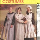 McCall's Sewing Pattern 9423 Misses Size 12-14  Pioneer Costumes Long Dress Apron Pinafore Bonnet