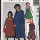 McCall's Sewing Pattern 9511 M9511 Girls Size 4-6 Easy Full Skirt Dress Pinafore Jumper