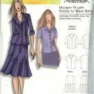 Butterick Sewing Pattern 5047 0458 Misses Size 3-16 Easy Jacket Shirt Seamed Skirt