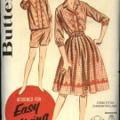 Vintage Butterick Sewing Pattern 2329 Misses Size 12 B32 Embroidered Skirt Shorts Blouse Shirt