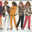 Butterick Sewing Pattern 3025 Misses Size 6-14 Easy Zipper Front Jacket Top Pull On Pants Shorts