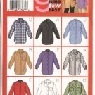 Butterick Sewing Pattern 3198 Misses Size 8-10-12 Easy Button Front Long Sleeve Shirts Blouse Top