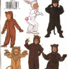 Butterick Sewing Pattern 3238 Boys Girls Size 2-5 Jumpsuit Costumes Bear Bunny Monkey Lion Cat
