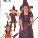 Butterick Sewing Pattern 3242 Girls Size 2-3-4-5  Witch Dress Hat Halloween Costume