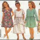 Butterick Sewing Pattern 3276 Girls Size 7-8-10 Easy Pullover Dresses Sleeve Skirt Variations Slip