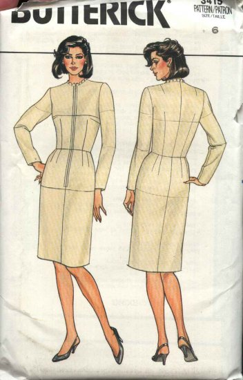 Butterick Sewing Pattern 3415 Misses Size 6 Fitting Shell