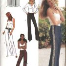 Butterick Sewing Pattern 3529 Misses Size 6-8-10 Easy Low Rise Flared Leg Pants