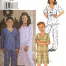 Butterick Sewing Pattern 3644 Boys Girls Size 7-10 Easy Pajamas Nightgown Pullover Top Pants Shorts