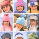 Butterick Sewing Pattern 3684 Childrens Boys Girls Size S-L Fleece Wool Hats Style Variations