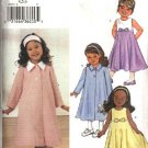 Butterick Sewing Pattern 3757 Girls Size 1-2-3 Easy Spring Swing Coat Sleeveless Empire Waist Dress