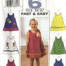 Butterick Sewing Pattern 3772 Girls Size 1-3 Easy Sleeveless Embellished Dress Jumper Sundress