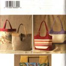 Butterick Sewing Pattern 3799 Three Lined Handbags Purse Pocketbook Tote Bag