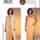 Butterick Sewing Pattern 3835 Misses Size 6-8-10 Easy Diahann Carroll Formal Evening Coat Dress