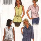 Butterick Sewing Pattern 3848 Misses Size 8-10-12 Easy Button Front Shirt Blouse Top Belt