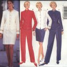 Butterick Sewing Pattern 3853 Misses Size 6-10 Wardrobe Lined Jacket Straight Skirt Pants