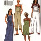 Butterick Sewing Pattern 3853 Misses Size 6-14 Easy Jumper Long Short Overalls Romper