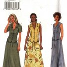 Butterick Sewing Pattern 3870 Misses Size 8-10-12 Easy Button Front Top Long A-Line Skirt