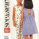 Butterick Sewing Pattern 3888 Girls Size 6-7-8 Easy Summer Sleeveless Dress Romper Sundress