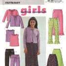 Butterick Sewing Pattern 3903 Girls Size 7-8-10 Easy Wardrobe  Skirt Pants Knit Top Cardigan