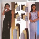 Butterick Sewing Pattern 3908 Misses Size 6-8-10 Easy Formal Evening Prom 2-Piece DressTop Skirt