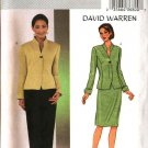 Butterick Sewing Pattern 3917 B3917 Misses Size 6-10 David Warren Lined Jacket Straight Skirt Pants