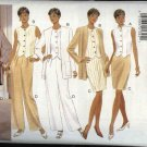 Butterick Sewing Pattern 3951 Misses Size 6-8-10 Easy Wardrobe Jacket Vest Top Skirt Pants