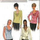 Butterick Sewing Pattern 3968 Misses Size 6-8-10 Easy Pullover Cowl Neck Tops Sleeve Variations