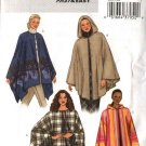 Butterick Sewing Pattern 3975 Misses Size 6-14 Easy Hooded Button Tie Front Poncho Cape
