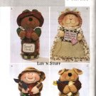 Butterick Sewing Pattern 3986 Mason Canning Wide Mouth Pint Jar Covers Cat Dog Pig Bear