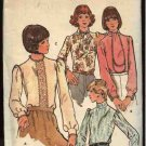 Retro Butterick Sewing Pattern 3998 Misses Size 14 B36 Long Sleeve Blouse Optional Tie Front