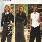 Butterick Sewing Pattern 4009 Misses Size 6-8-10 Sleeveless TopButton Front Shirt Pants Scarf