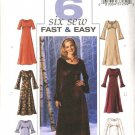Butterick Sewing Pattern 4018 Misses Size 6-8-10 Easy Raised Empire Waist Dresses