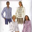 Butterick Sewing Pattern 4023 Misses Size 18-22 Button Front Decorated Band Shirts Blouse