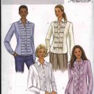 Butterick Sewing Pattern 4023 Misses Size 12-14-16 Button Front Decorated Band Shirts Blouse