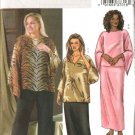Butterick Sewing Pattern 4039 Womans Plus Size 22W-26W Easy Pullover Tunic Straight Skirt Pants