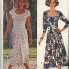 Butterick Sewing Pattern 4051 Misses Size 6-8-10-12 Easy Dropped Waist Short Long Sleeve Knit Dress