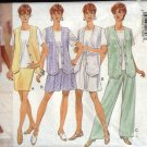 Butterick Sewing Pattern 4053 Misses Size 6-14 Easy Classics Wardrobe Vest Top Skirt Shorts Pants