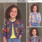 Butterick Sewing Pattern 4055 Girls Size 1-2-3 Just Jennifer Unlined Patchwork Jacket
