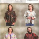 Butterick Sewing Pattern 4056 Misses Size 16-22 Just Jennifer Unlined Patchwork Jacket