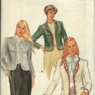 Retro Butterick Sewing Pattern 4056 Misses Size 10 Lined Button Front Jacket Embroidery Transfer
