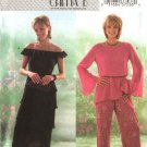 Butterick Sewing Pattern 4065 Misses Size 6-10 Off Shoulder Pullover Top Tiered Layered Skirt Pants