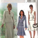 Butterick Sewing Pattern 4066 Misses Size 20-22-24 Wrap Front Top Layered Bias A-Line Skirt