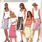 Butterick Sewing Pattern 4076 Misses Size 12-14-16 Easy Straight Flounced Skirts